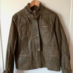 Daniel Leather XL lined bomber